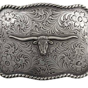 "New longhorn steer belt buckle approximately 4"""
